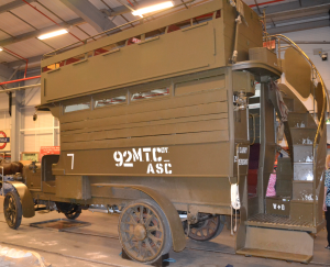 A B type London bus converted for war use