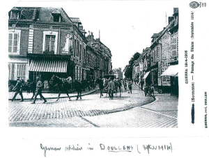 German soldiers in Doullens - September 1914