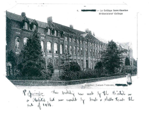 This building was used by the British as a hospital, but was wrecked by bombs and shells towards the end of 1916