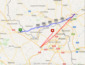 The possible flightpath of A137