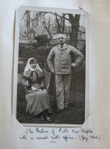 The Matron of Perth War Hospital with a wounded South African