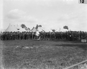 Troops attending Divine Service, No. 4, Stationary Hospital, Arque