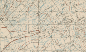 Trench map showing International Corner 1917
