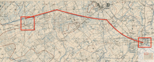 Location shown on trench map