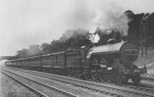 A Great Northern Railway Scotch Express. Similar to the one Douglas would have caught. A similar locomotive is preserved by the National Railway Museum.