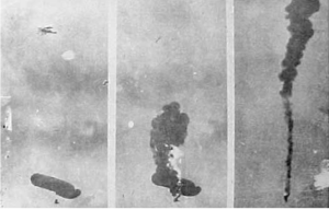 An observation balloon destroyed