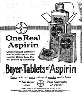 Advert for aspirin