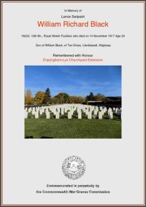 William Richard Black, grave details