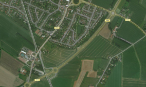 Modern aerial map
