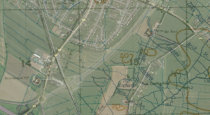 Hybrid maps showing trench map overlay on modern