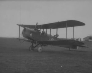 Airco DH 4 about to take off near Archangel. Used in bombing and reconnaissance