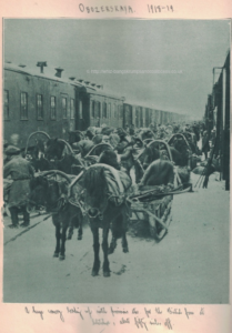 A huge convoy loading up with provisions etc for the British force at Seletskoe about fifty miles off