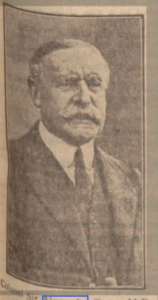 Sir Alexander Sprot. Dundee Evening Telegraph 8th February 1929. Image © D.C.Thomson & Co. Ltd. Image created courtesy of THE BRITISH LIBRARY BOARD. https://www.britishnewspaperarchive.co.uk