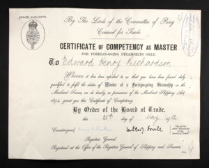 Master's Certificate for Richardson