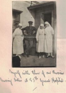 Myself with three of our Russian nursing sisters at 85th General Hospital
