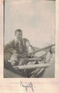 Captain Page rowing