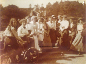 Elma circa 1915 on the bicycle