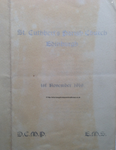Cover of the wedding service